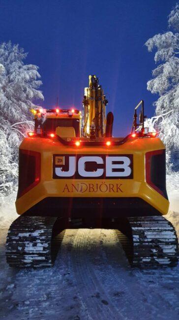 Leverans från Maskin Väst: Jcb 150X Bandgrävare